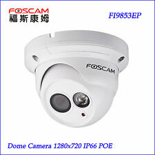 Foscam FI9853EP Outdoor Waterproof Dome 720P POE P2P Security IP Camera