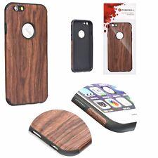 ^ Apple iPhone 8 Plus D. Braun Wood Holz Desing Muster Handy Hülle Schutz Cover