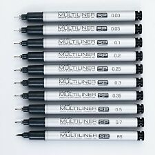 Copic Multiliner Sp - Black Fineliner Pens - (All Sizes Available)