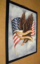 country Primitive Patriotic Flag Eagle God Bless America religious Decor Sign