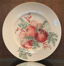 Lenox Williamsburg Boxwood And Pine Pomegranate Accent / Luncheon Plate Discont.