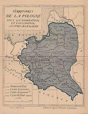 * WWI - Double Postcard - Territoires de la Pologne, Occupation Austro Allemande