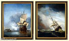 Nautical Art Wall Decor Framed Prints Paintings Willem van de Velde