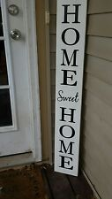 """Large Rustic Wood Vertical Porch Sign Home Sweet Home 48"""" Primitive Distressed #"""