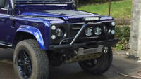 Landrover Defender tube a/c winch bumper with a bar  LS7569