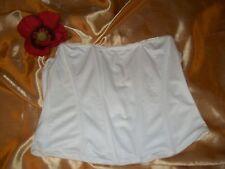 Marks & Spencer cream boned waist control shapewear silicone edged corset 14