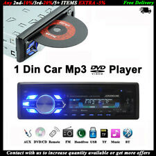 Single 1 Din Car DVD CD MP3 Player Stereo Radio Bluetooth USB/AUX/TF FM In-dash