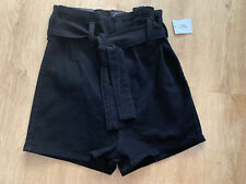 Urban Outfitters BDG PIN-UP High Rise Black Denim Shorts Size 28 BNWT RRP £36