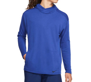 Nike Hoodie Mens Hyper Quick Dry Pullover Training Gym Yoga Blue Small or Large