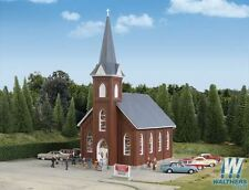 WALTHERS CORNERSTONE HO SCALE 1/87 BRICK CHURCH | BN | 933-3496