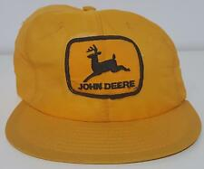 John Deere VTG 80s Louisville Mfg Fine Mesh Patch Snapback Hat USA Farm Seed AG