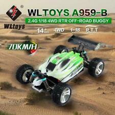 WLtoys A959-B voiture rc 2.4G 1/18 échelle 4WD 70KM/H RTR électrique FR STOCK