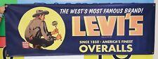 LEVI'S Jeans Vintage Logo Cowboy Banner Denim Sign Levis Overalls Buy B4 Nov 1