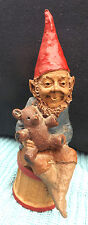 Tom Clark Gnome Figurine On A Stone Titled Teddy's Story
