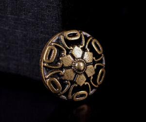 30X 15mm Antique Brass Hollow Bohemian Flower Rivet Conchos Leather Craft Decor