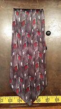 Pierre Cardin Gray Red Silk Designer Mens Necktie Tie Free Shipping