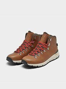 Danner Men's Mountain 600 4.5'' Leather Waterproof Hiking Boots Tan/ red  62246