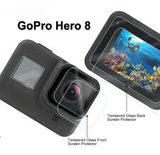 Tempered Glass Screen Protector for Black Go Pro Hero 8 Lens Camera + LCD