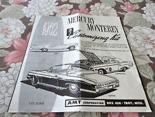 1/25 ORIGINAL AMT 1962 MERCURY MONTEREY CONVERTIBLE INSTRUCTIONS KIT # K312