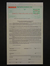 RARE Topps Baseball Trading Card Check Player & Contract/License Agreement GREEN