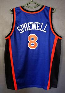 CHAMPION NBA LARTELL SPREWELL #8 NEW YORK KNICK BASKETBALL SHIRT JERSEY SIZE 2XL