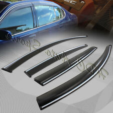 For Lexus GS350 GS450 Smoke Window Visor W/ Chrome Molding Rain Shade Rain Guard