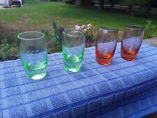 Vintage Liqueur / Whiskey Etched Coloured Shot Glasses. 4 pcs. Collectibles