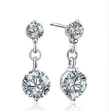 Ohrstecker Ohrring Tropfen Kristall weiß Sterling Silber 925