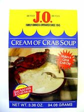 J.O. Spices Brand Cream of Crab Soup & Crab Dip Mix - 3.36 oz Box (Not Old Bay)