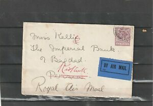 Great Britain AIRMAIL COVER TO Iraq 1927