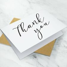 10 x Folded Wedding Thank You Cards ~ Notes Pack + Envelopes (G16)