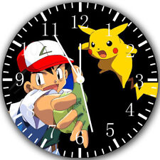Pokemon Pikachu Ash Frameless Borderless Wall Clock Nice For Gifts or Decor Z87