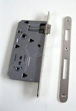 serratura Bonaiti per porta BAGNO nottolo WC quadro 8 - 6 nikel Entrata 60mm