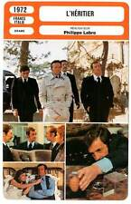 FICHE CINEMA : L'HERITIER - Belmondo,Rochefort,Labro 1972 The Inheritor