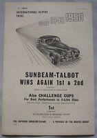 1950 Sunbeam-Talbot Original advert No.1