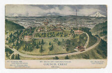 1911 Council Crest Or Ore Above View Postcard Pc2402