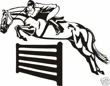 SHOW JUMPING  DECAL FOR CAR, UTE, 4WD, HORSE FLOAT