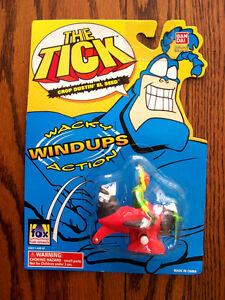 "1995--THE TICK ""Crop Dustin' El Seed"" (Wacky Wind-Up Toy) by Bandai [NIP]"
