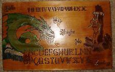 "hand made wooden ouija spirit talking board ""Green Dragon"""