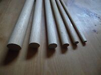 30cm Wooden Craft Sticks - Hardwood Dowels Poles CHOOSE QUANTITY & DIAMETER