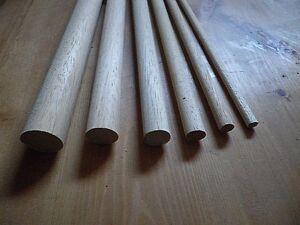 30cm Wooden Craft Sticks - Hardwood Dowels Poles CHOOSE QUANTITY & DIAMETER