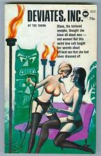 Deviates, Inc. by Ted Thorn 1964 VG+ Exotic torture club, lesbian fiction