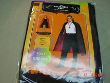 NWT Halloween Costume Cape Adult Reversible Black Red
