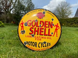 Emailleschild Motorrad Schild Oldtimer Reklame Schild Auto Öl Bike Werkstatt