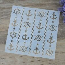DIY Craft Anchor Layering Stencils For Walls Painting Scrapbooking Stamping
