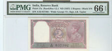 Reseerve Bank Of India 2 Rupees (1937), Pmg-66 Gem Unc Epq