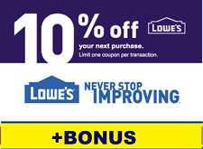 Exp 3 Days ONE (1X) 10% LOWES Coupon1 -INSTORE+Stacking BONUS INFO on stacking
