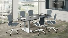 8 Ft Foot Modern Conference Table With Metal Legs And Grommet For Power 8 Colors
