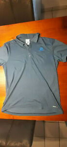 Salomon Herren Poloshirt blau Gr. L Outdoor Wandern Polo Hemd kurzarm