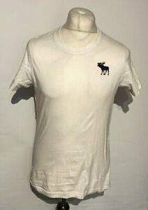 Abercrombie & Fitch Men's Shirt White Medium Short Sleeve 100% Cotton